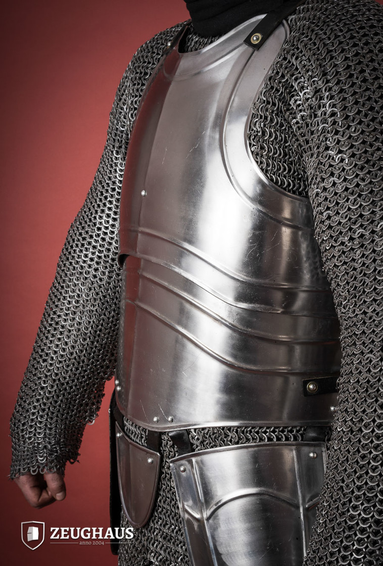 "Cuirass with back ""Warrior"" with short tassets, polished Big Picture-1"