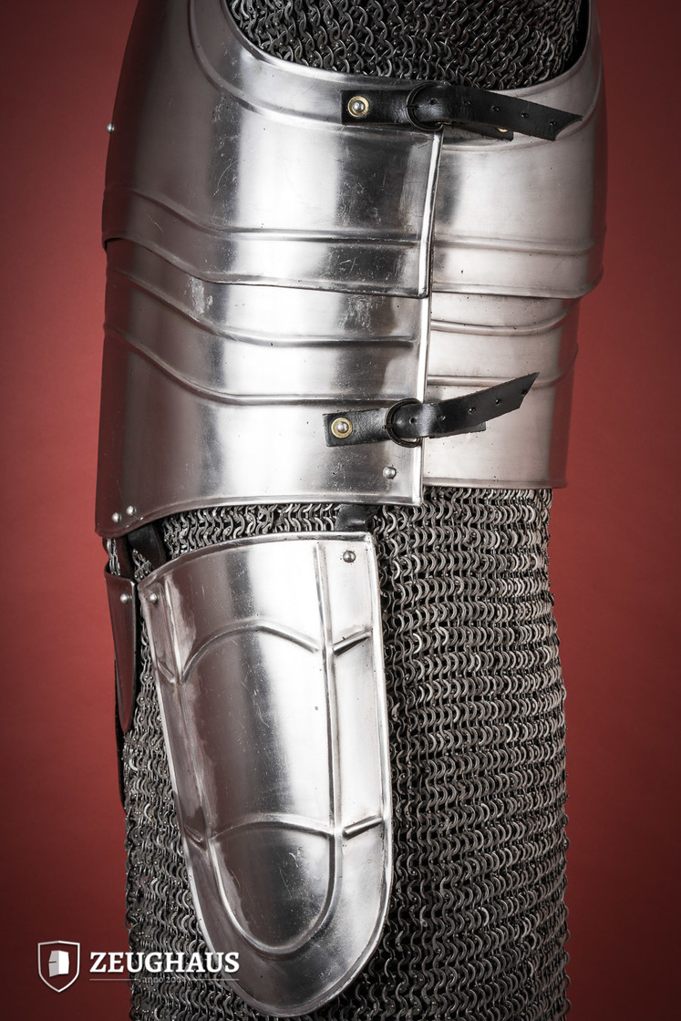 "Cuirass with back ""Warrior"" with short tassets, polished Big Picture-4"