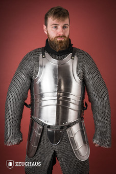 Cuirass with back Warrior with short tassets, polished...