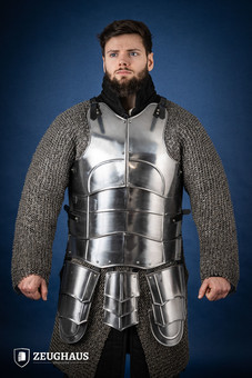 Cuirass with back Champion with short tassets, polished...