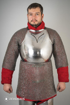 Breast plate 14 C., polished L/XL (105-115 cm)