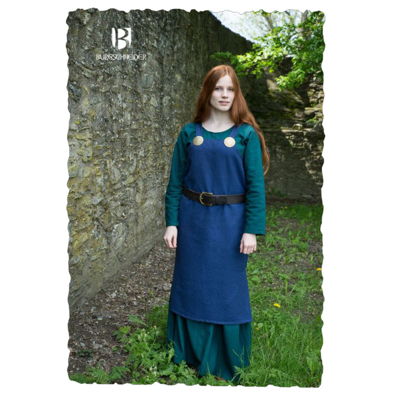 Trägerkleid Frida - Blau M Big Picture-2
