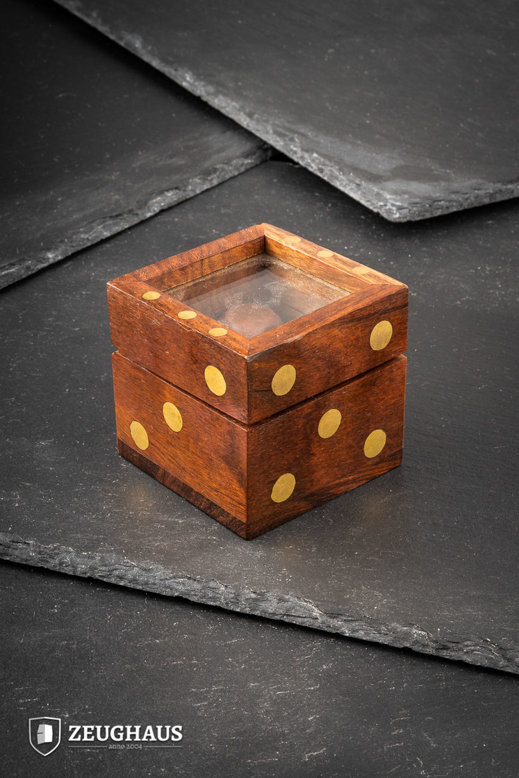 Wooden Dice with Glass Top Dice Box Big Picture-0