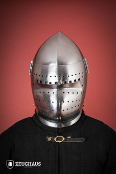 Bascinet Early 14 C. style with Visor, polished