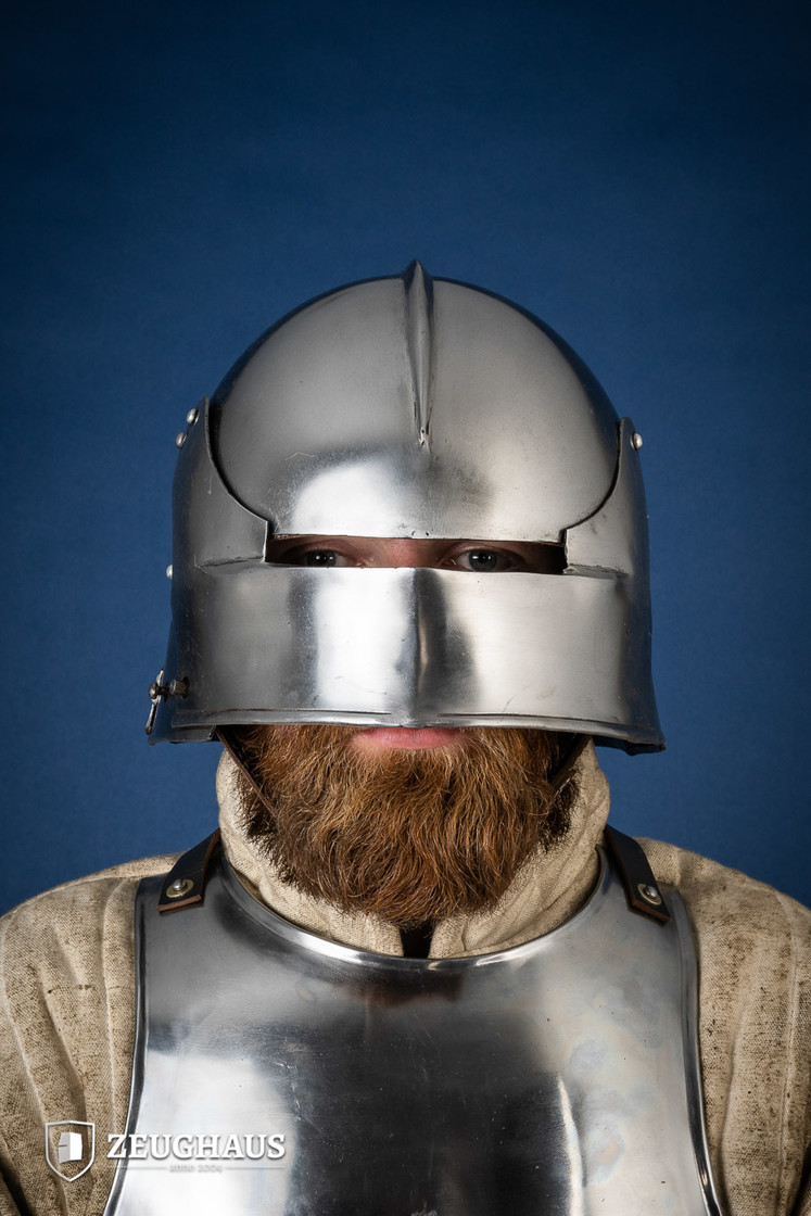 German Sallet Helmet 15th century  (1,6 mm), polished Big Picture-0
