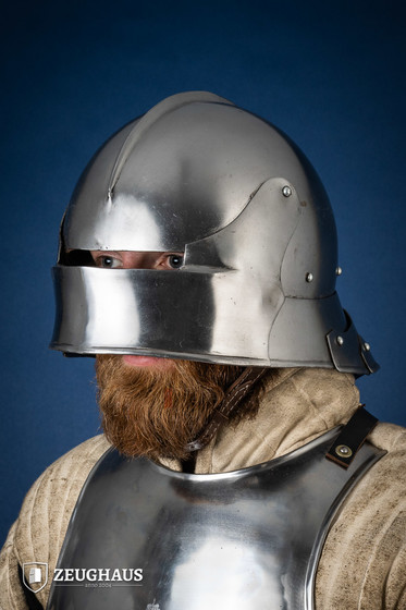 German Sallet Helmet 15th century  (1,6 mm), polished