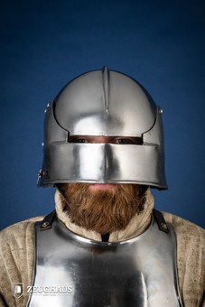German Sallet Helmet 15 C. style, polished