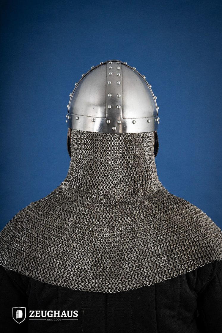 Norman Helmet with Face Guard, 12 C. style, polished Big Picture-3