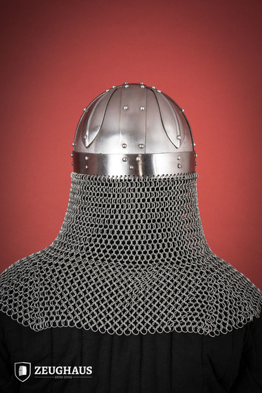 Viking Helmet Type 1 with aventail, polished
