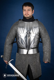 Gothic cuirass, polished 2XL/3XL (116-126cm)