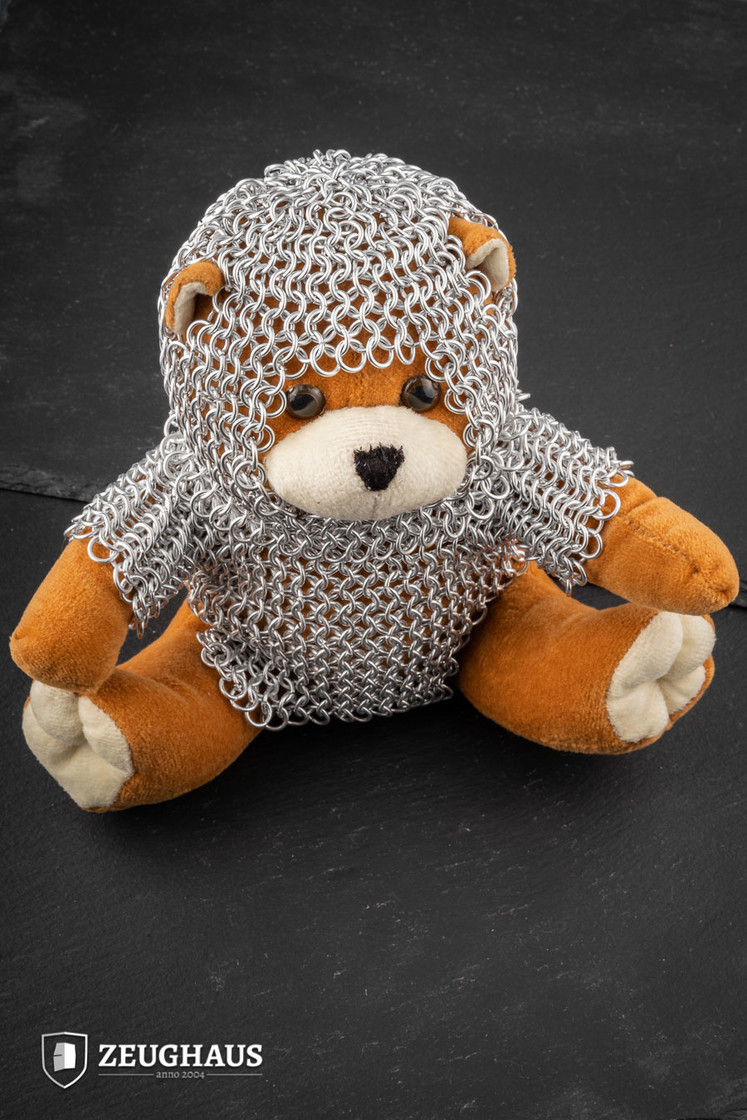 Teddy Bear Knight Wearing Chainmail Big Picture-0