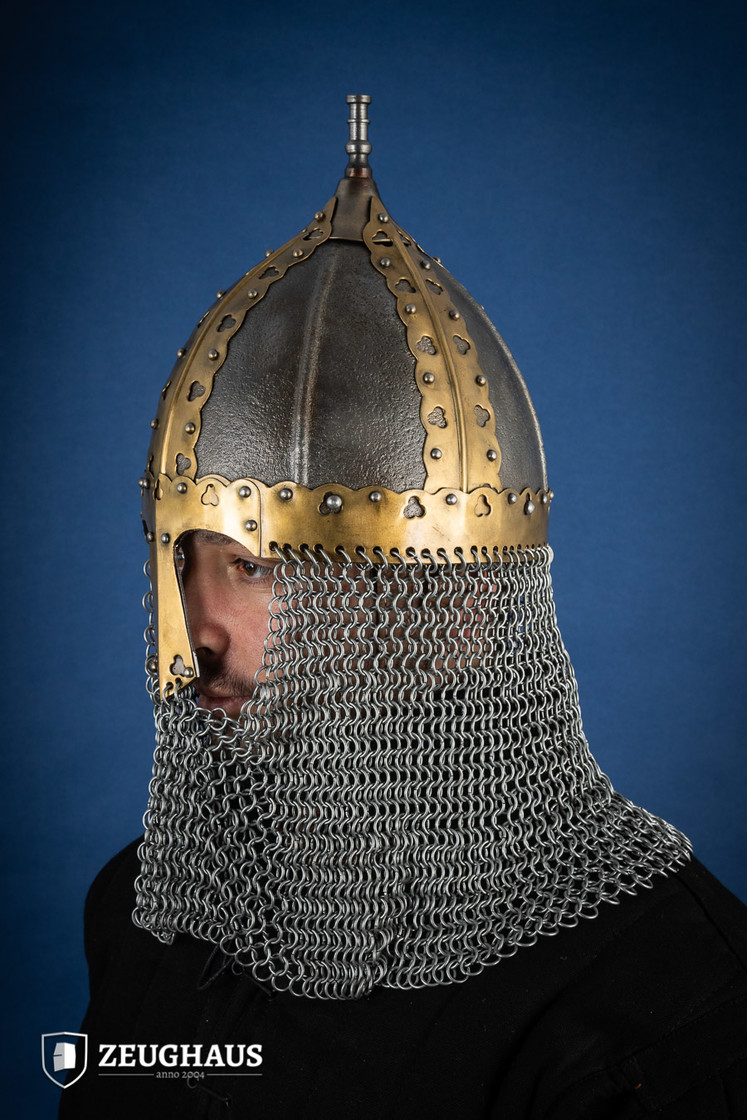 rus helmet with camail ancient look Big Picture-2