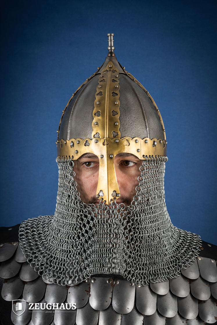 rus helmet with camail ancient look Big Picture-5