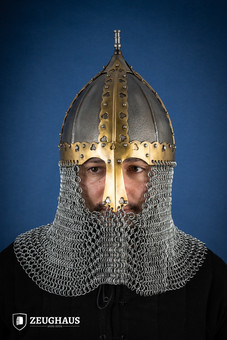 rus helmet with butted camail ancient look
