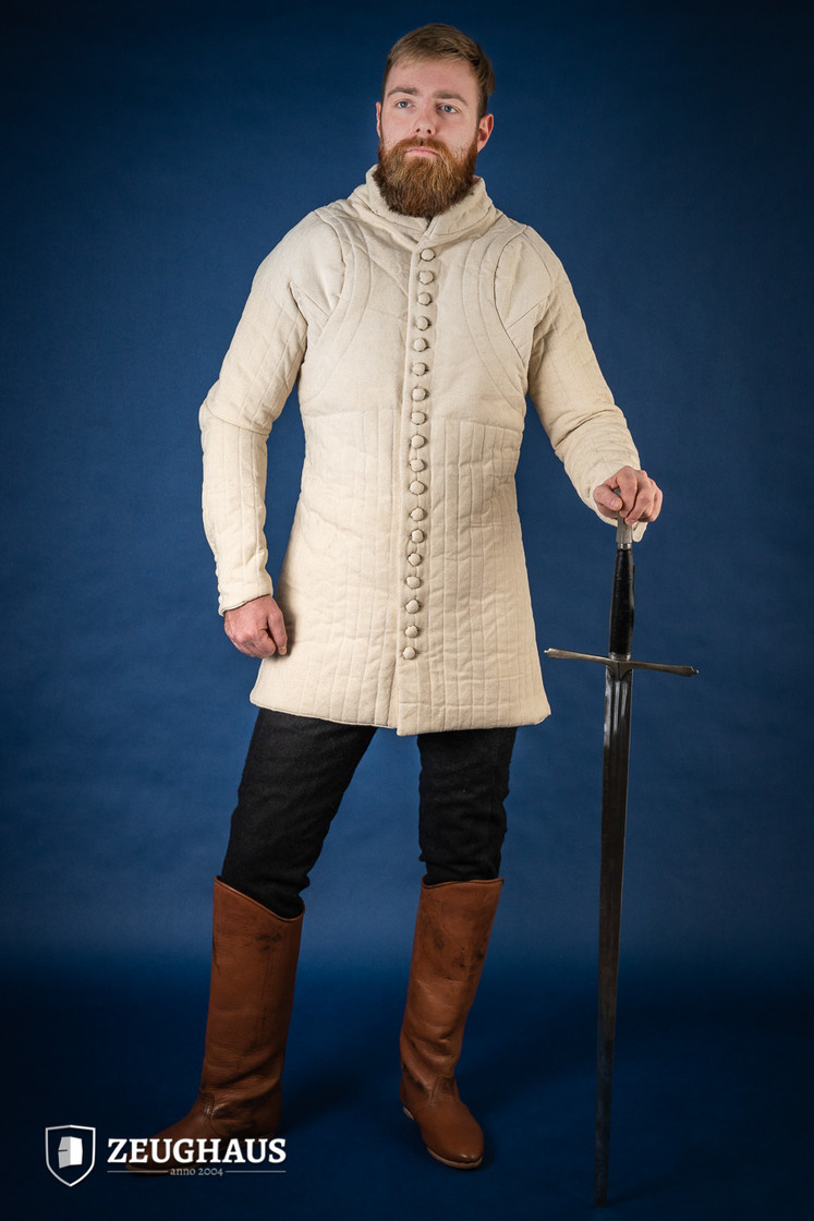 Gambeson Typ 6 (14 Jh. Stil), natur XXL Big Picture-2