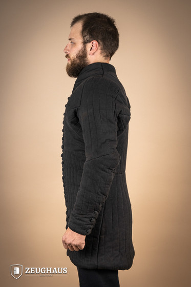 gambeson type 6 (14 C. style), black XL