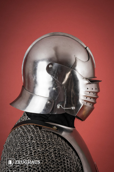 Bellows Face Sallet Helmet 15th century  (1,6 mm), polished