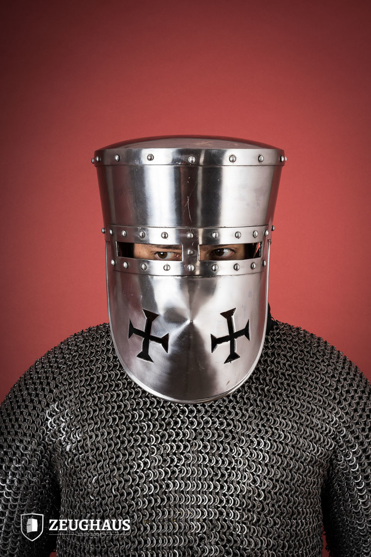 Crusader Helmet with Leather Liner Big Picture-0