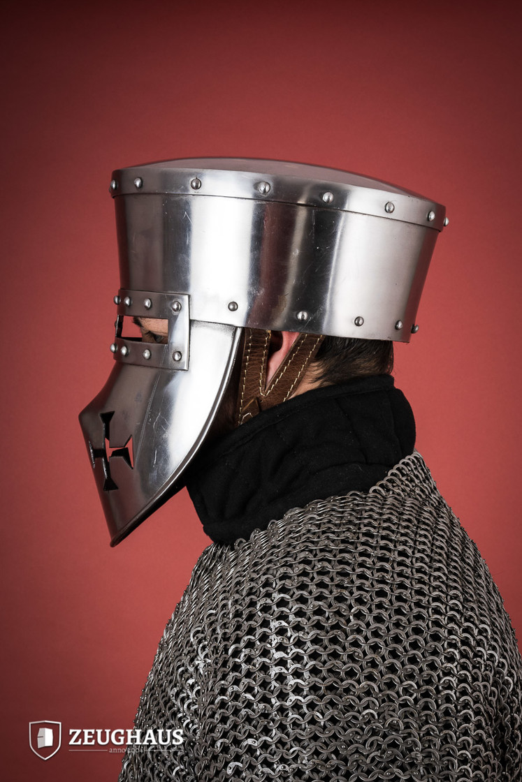 Crusader Helmet with Leather Liner Big Picture-2