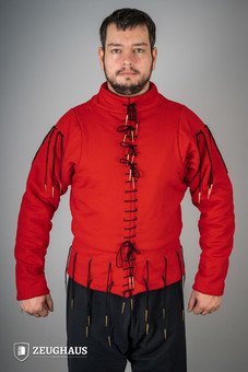 XV Century Arming Doublet Red S