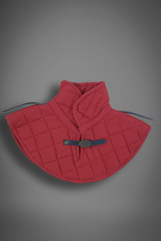 padded collar, red