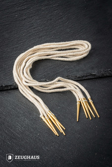 String with Brass Aiglets-45cm ecru