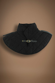 padded collar, black