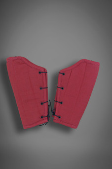 padded bracers, red