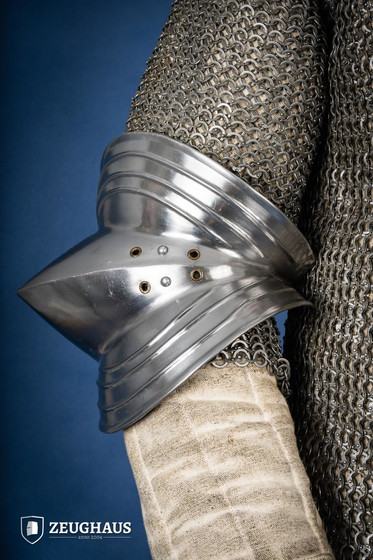 Gothic Elbow Armour, polished