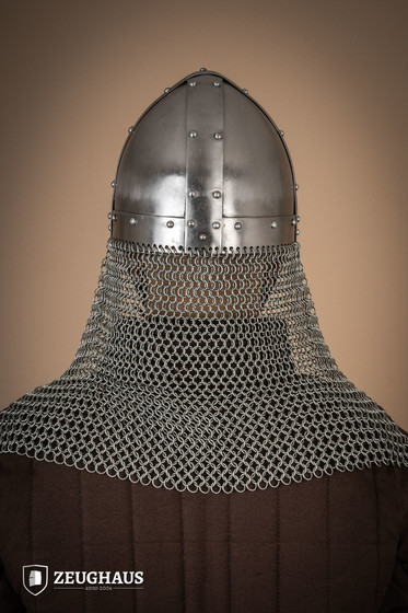 Nasal Helmet Type 4 with aventail  (1,6 mm), polished