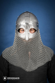 Tsar Russian Steel Helmet with Chainmail