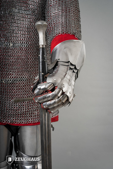 Knight Steel Gloves, polished