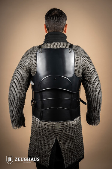 Cuirass with back Champion with short tassets, blackened