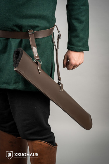 Leather Sword Scabard For Larp, brown