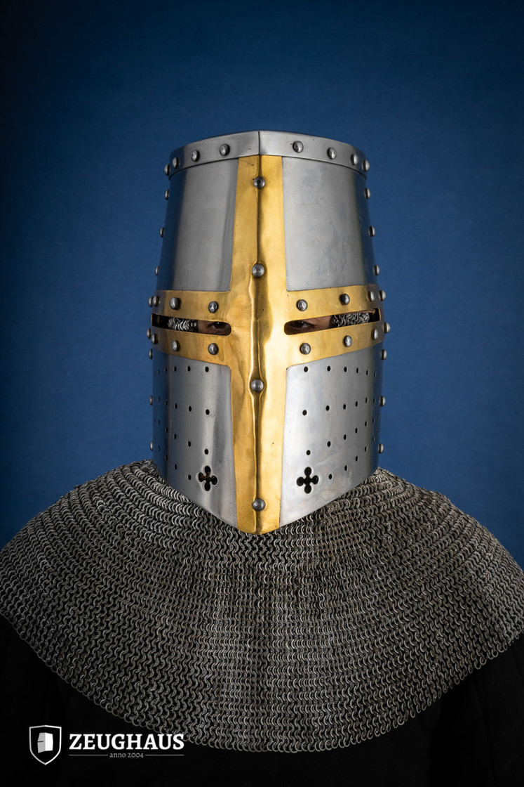 Great Helmet Type 2 with Brass Cross (1,6 mm), polished Big Picture-0