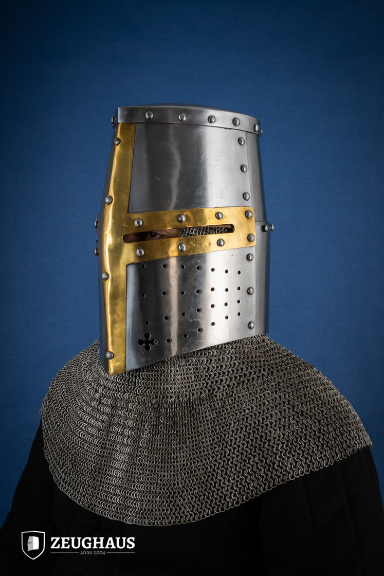 Great Helmet Type 2 with Brass Cross (1,6 mm), polished Big Picture-1