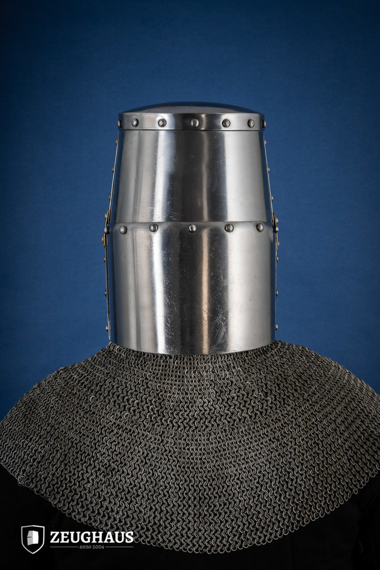 Great Helmet Type 2 with Brass Cross (1,6 mm), polished Big Picture-3
