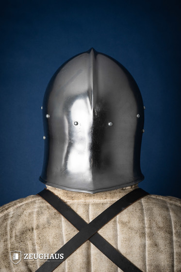 Barbuta Helm Typ 1 (1,6 mm), poliert